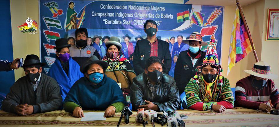 Pacto de Unidad convoca a movilización y cabildo en rechazo a postergación de elección