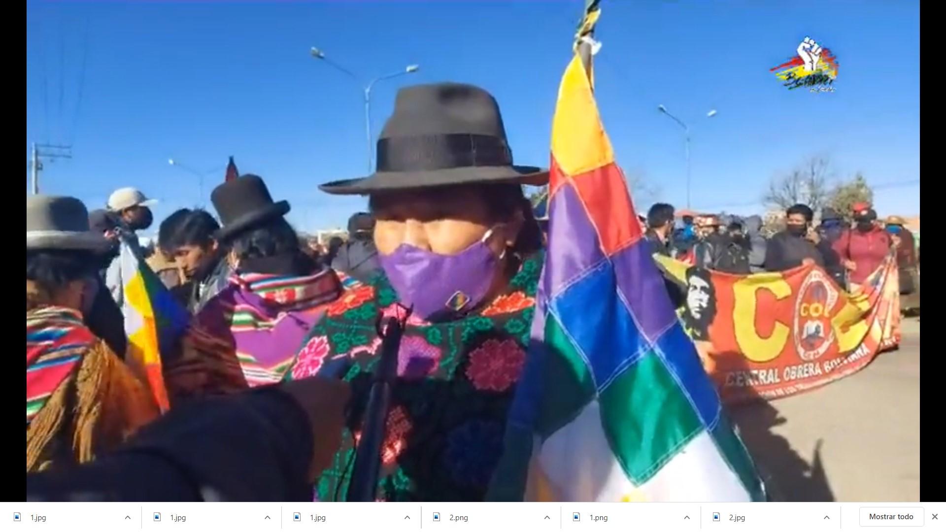 COB y Organizaciones del Pacto de Unidad encabezan movilización en la ciudad de El Alto