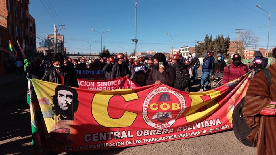Se suman mas organizaciones a la gran movilización convocada por la Central Obrera Boliviana
