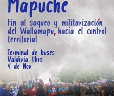 Nación Mapuche: Marcha 4 de noviembre