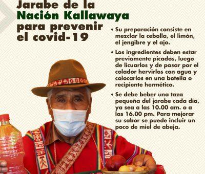 Jarabe de la nación kallawaya para prevenir el covid-19