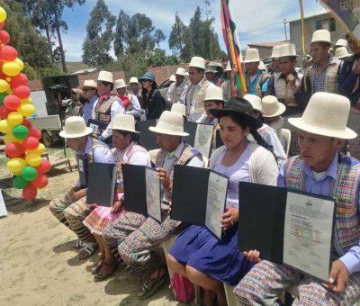 Raqaypampa ratifica que no hubo fraude electoral y repudia el Golpe de Estado de 2019 en Bolivia.